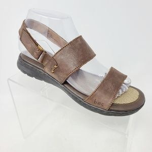 Born BOC Womens Shoes 7 M Brown Leather Sandals